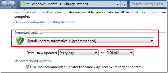 how to turn off automatic updates in windows 7 ultimate