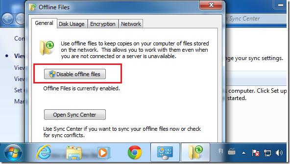 Turn On / Off Offline Files in Windows 7 | Liberian Geek