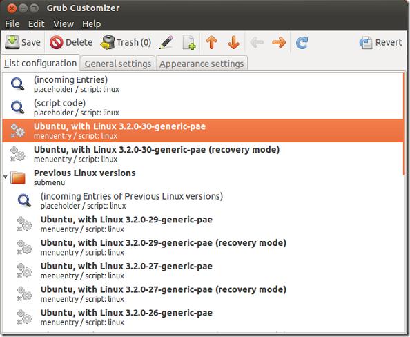 GRUB Customizer 3 0 Released: Install It In Ubuntu 12 04 | Liberian Geek