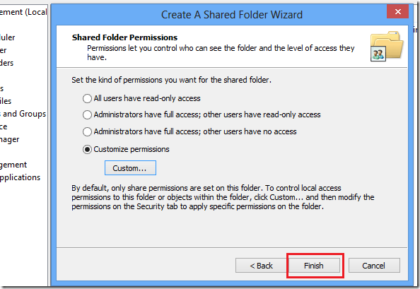 computer active directory and share permissions