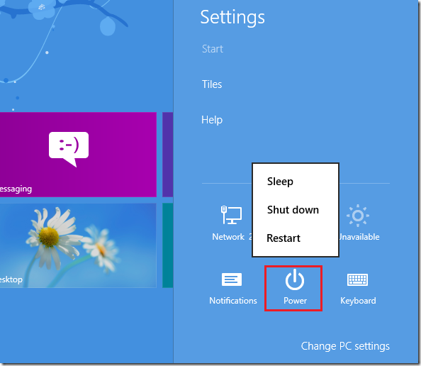 How to Shutdown / Restart Windows 8 Computer | Liberian Geek