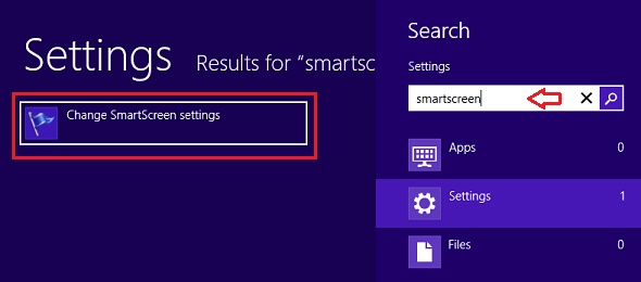 Turn off disable smartscreen filter in windows 8 for for Window opens off screen