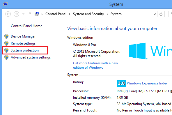 windows 7 how to create a restore point