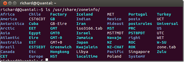 timezone_ubuntucentos_servers