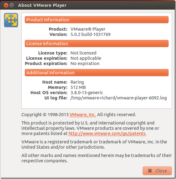 VMware Player For Linux 5 0 2 Released–How To Install It In