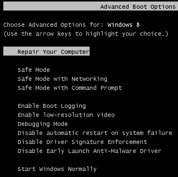 quickly enable or disable windows legacy boot menu safe