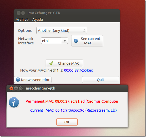 Changing MAC Addresses In Ubuntu May Fix Some Network