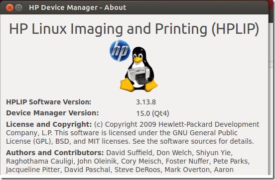 HP Linux Imaging And Printing (HPLIP) Version 3 13 8