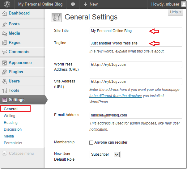 Accessing wordpress blog for the first time after for How to install wordpress template in cpanel