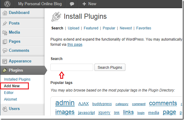 page plugin facebook blogger wordpress install