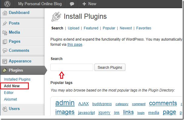 wordpress-install-plugin