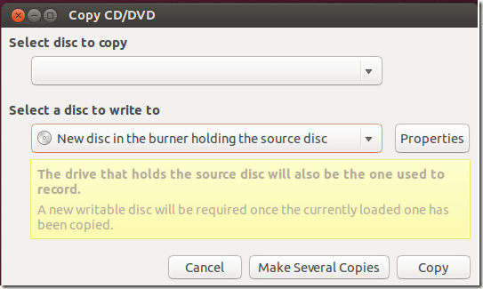 Daily Ubuntu Tips – Copy CD & DVD Discs Using Ubuntu