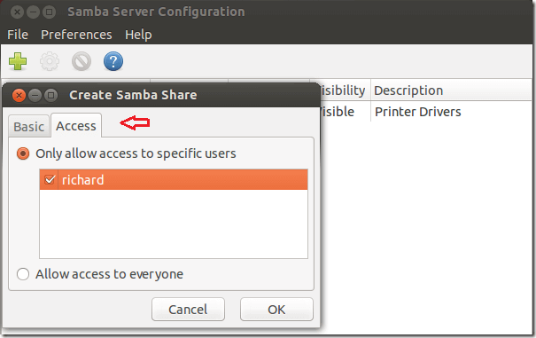 Create And Configure Samba Shares In CentOS 7