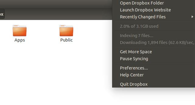 how to get dropbox on menu bar
