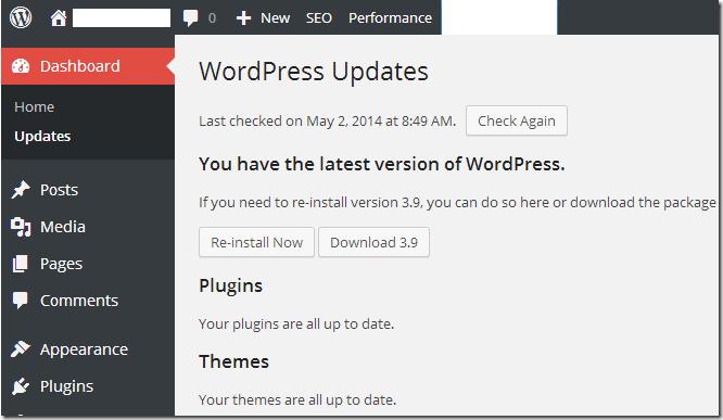 wordpress-update-security