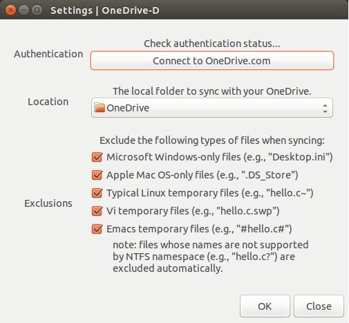 OneDrive-D configure file