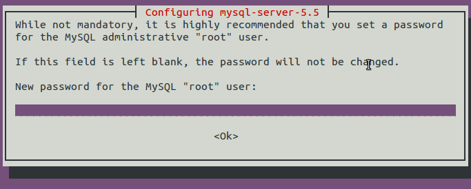 MySQL password prompts