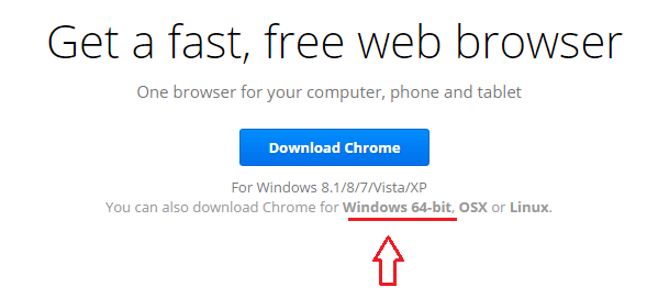 Google Chrome 64-bit install