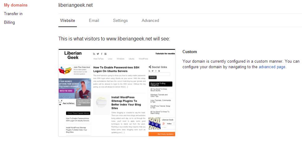 Google Domains Management