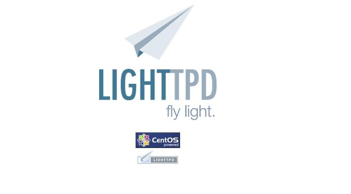 lighttpd default page