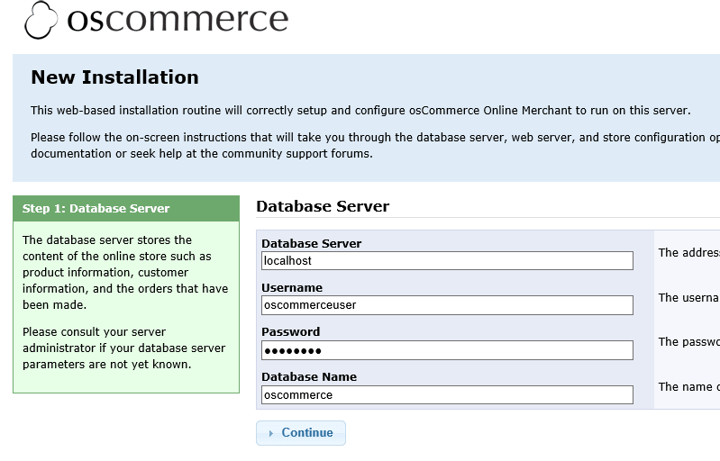 Install oscommerce in ubuntu 14.04
