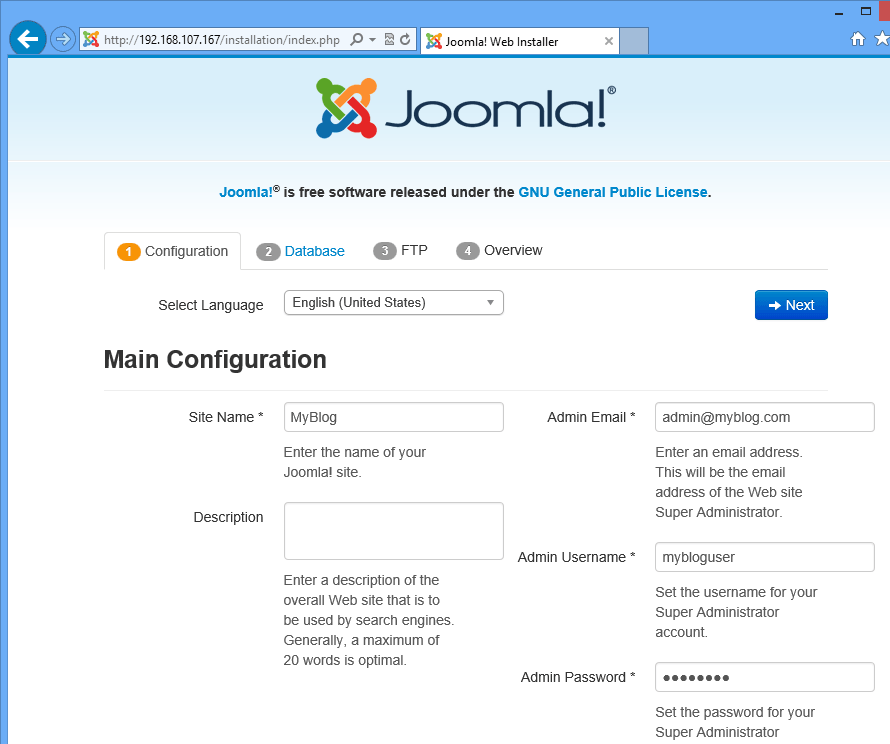 How To Install Joomla CMS On CentOS 7 With LAMP Support – Liberian ...