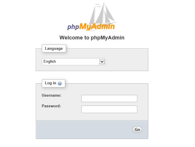 phpmyadmin ubuntu page