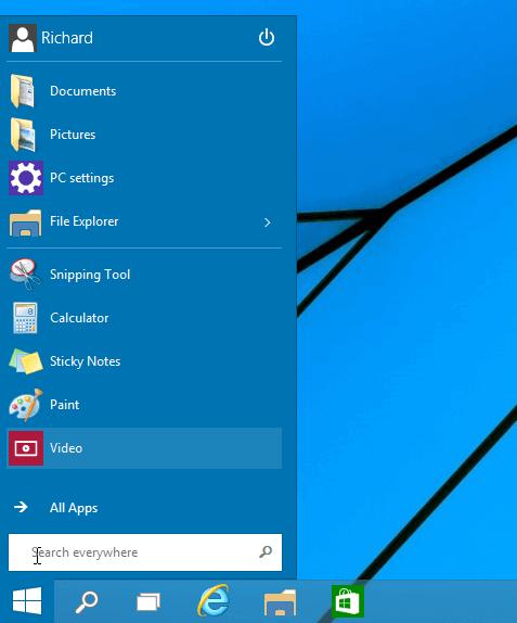 remove tiles windows 10
