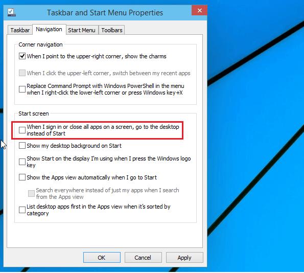 windows 10 start scren