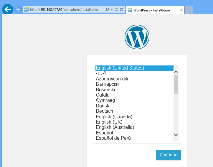 wordpress ubuntu 14.10