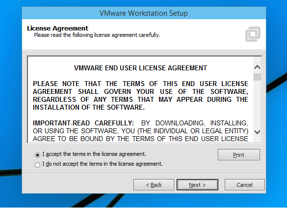 installing vmware workstation 11