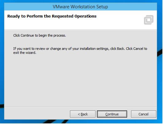installing vmware workstation