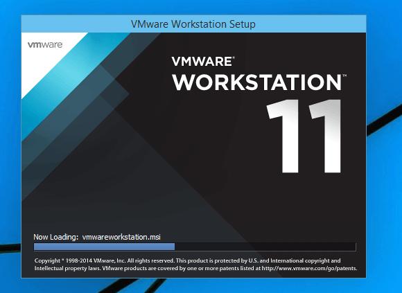 install vmware workstation 11 on windows