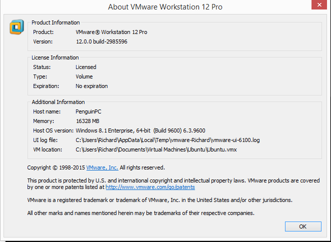 VMware Workstation installation