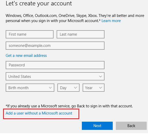 create windows 10 local users