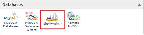 cpanel phpmyadmin backup