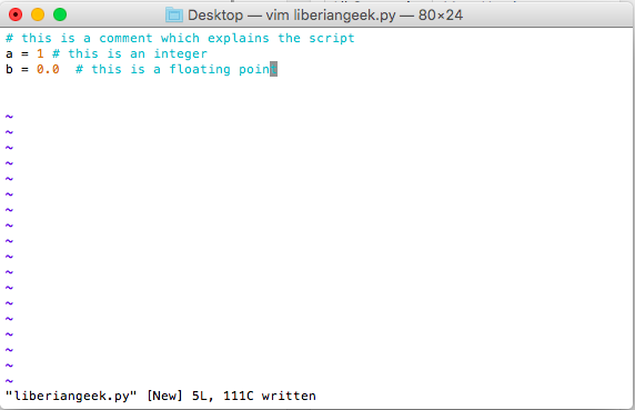 How to write and execute a simple Python script on Mac OS X