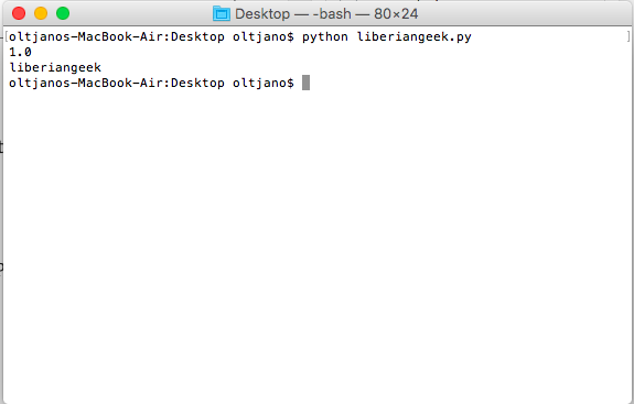 How to write and execute a simple Python script on Mac OS X, for