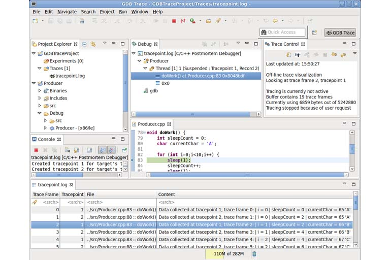 Window of computer code