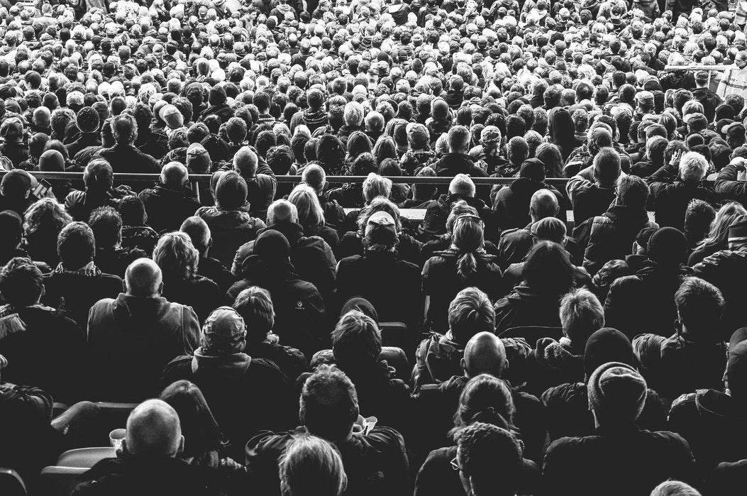 huge mass of people