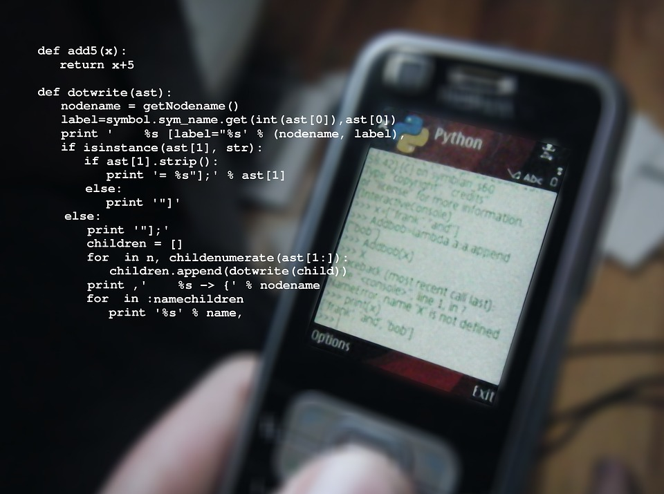 programming codes on a cellular phone