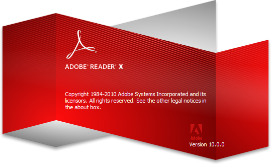 Loading Page of Adobe Reader X and Adobe Writer